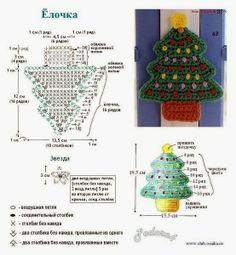 Receitas de Trico e Croche: Árvore de Natal em crochê