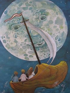 wynken blynken and nod illustration - Google Search