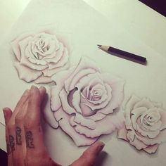 I want white roses on my hip