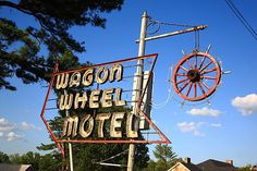 "Route 66 - Wagon Wheel Motel, another of the classic Rt. 66 landmarks, located in Cuba, Missouri.  ""The Fine Art Photography of Frank Romeo."""