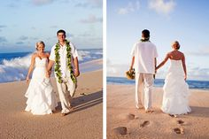 nothing is better than a Hawaii beach wedding.  Picture courtesy of Chrissy Lambert Photography Hawaiian Wedding - Beach Wedding - Oahu - North Shore