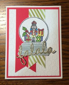 Stampin days; Christmas card, Sparkly Seasons, Seasonal Frame Thinlits Dies, Stampin' UP!, Season of Cheer Designer Series Paper