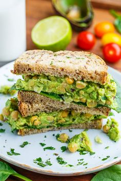 Smashed Chickpea and Avocado Sandwich - Still cannot go wrong with avocado anything.