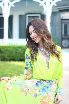 Look do dia - Blog Monalisa de batom e Moikana #ootd #floralprint #verdelima