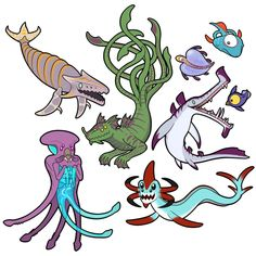 Everyone knows that the monsters in Subnautica are some of the scariest things you could ever find in an alien ocean… but what if they were…. Subnautica Concept Art, Creature Concept Art, Creature Design, Subnautica Creatures, Fantasy Creatures, Mythical Creatures, Myths & Monsters, Fantasy Beasts, Creature Drawings