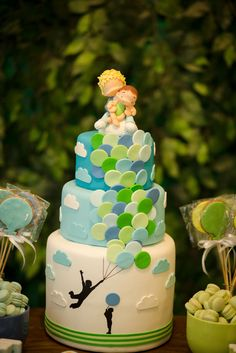 Amazing cake at a Balloon Party!  See more party ideas at CatchMyParty.com!  #partyideas #balloon