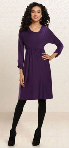 80fdbe8639 Day To Nightfall   Soma Cowl Neck Dress in Blackberry  SomaIntimates Cowl Neck  Dress