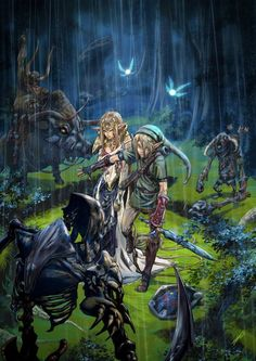 intense legend of zelda: twilight princess artwork.