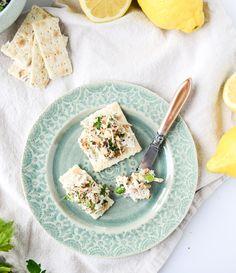 lemon almond roast chicken salad I howsweeteats.com