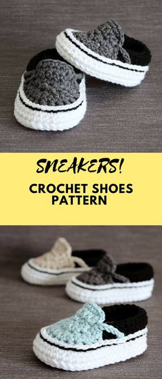 Create your own crochet Vans styled sneakers! These baby boots are lovely for every occasion! #crochet #crocheting #crochetpattern #pattern #patternsforcrochet #printable #instantdownload #pdf