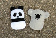 DIY Felt Ornaments Pattern Pack with Panda Koala by MyFunnyBuddy
