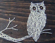 owl string art