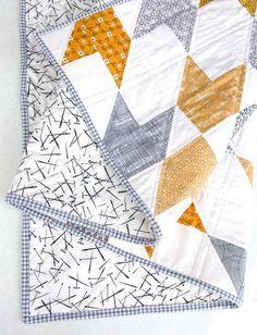 Arrow Block PDF Quilt Pattern / Beech Tree Lane Handmade – Famous Last Words Quilting Beads Patterns Boys Quilt Patterns, Modern Quilt Patterns, Modern Baby Quilts, Baby Quilts For Boys, Simple Quilt Pattern, Triangle Quilt Pattern, Modern Quilting Designs, Beginner Quilt Patterns, Handmade Baby Quilts