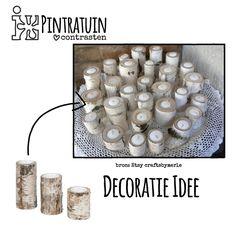Decoratie Idee - Waxinehouder Berk - #Pintratuin ♥ contrasten