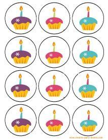 free cupcake party printables