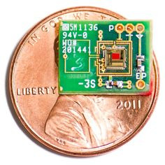 Your ear as a battery - wireless energy harvesting chip embedded outside of the cochlear has glass electrodes entering the round window to pick up the potential difference across the endolymph and perilymph. Antenna receives start-up charge and is a 2.4 GHz radio transmitter. CMOS chip (2.4 x 2.4 x 0.2 mm^3) scavenges 1.12 nW. MIT