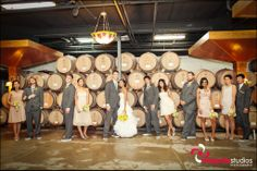 Wedding photos at Lynfred Winery!