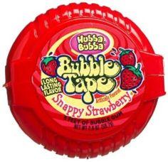 Wm. Wrigley Jr Hubba Bubba Sour Gummi Tape Tape Snappy Strawberry 6-Foot Tapes