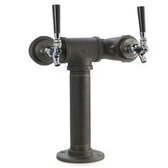 Draft Beer Tower - Black Iron - Double Tap - Standard Faucet