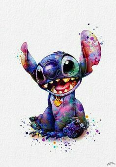 Stitch 2 Watercolor art print by White Lotus. Our art prints are produced on acid-free papers using archival inks to guarantee that they last a lifetime without fading or loss of color. All art prints include a 1 Art Prints, Disney Drawings, Stitch Drawing, Cartoon Wallpaper Iphone, Cartoon Wallpaper, Cute Disney Drawings, Cute Cartoon Wallpapers, Cute Disney Wallpaper, Watercolor Disney