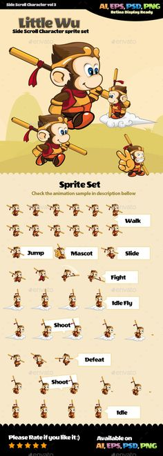 Side Scroll Character Vol 01 - Sprites Game Assets