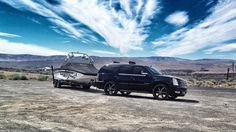 My Escalade with my Tige #tige #escalade #wakeboarding #rims #cadillac