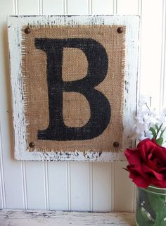 This pretty White (other colors available in second photo) rustic monogram would look lovely as part of your home or wedding decor. This listing is for one monogram letter. Burlap Monogram, Monogram Signs, Monogram Wedding, Monogram Letters, Burlap Letter, Diy Crown Molding, Crafts To Make, Diy Crafts, Wedding Signs