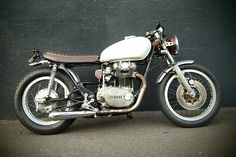 Yamaha XS650 Custom.  Love all the empty space behidn the air filters and thr trimmed down seat.