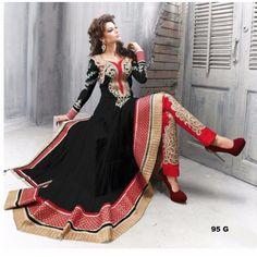 Thankar Amazing Heavy Designer Black Embroidery Anarkali Suit