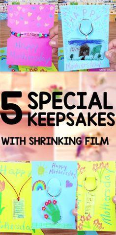 Five Shrinky Dinks Keychain Projects - Simply Kinder #giftsforparents #mothersdaydiy #mothersdayintheclassroom