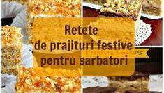 Top 15 retete de prajituri festive pentru sarbatori Top 15, Gem, Cooking Recipes, Bread, Cheese, Homemade, Cookies, Breakfast, Cake