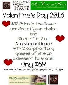 Do you know who will always be your best Valentine? You! What will you do for yourself this year?! You deserve a lot...  #valentine #dinnerfortwo #salon #salonbuffalo