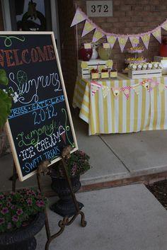 "Photo 42 of 42: Ice Cream and Lemonade / Summer ""Ice Cream and Lemonade Neighborhood Social""   Catch My Party"