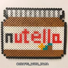 Nutella jar perler beads by crafts_with_talia