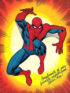 Signed Spider Man art by John Romita