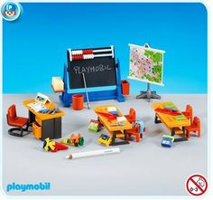 Playmobil Classroom Interior by Playmobil. $18.99. This item is part of the Direct Service range. This range of products are intended as accessories for or additions to existing Playmobil sets. For this reason these items come in clear plastic bags or brown cardboard boxes instead of a colorful retail box.. Please Note: This item is part of the Direct Service range. This particular range of products are intended as accessories and / or additions to existing Playmobil se...