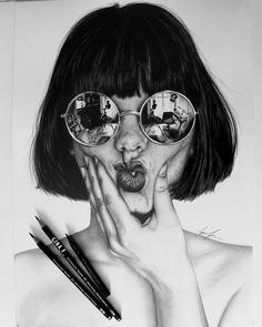♥︎f̶o̶r̶ i̶n̶ d̶r̶e̶a̶m̶s̶ w̶e̶ e̶n̶t̶e̶r̶ a̶ w̶o̶r̶l̶d̶ t̶h̶a̶t̶s̶ e̶n̶t̶i̶r̶e̶l̶y̶ o̶u̶r̶ o̶w̶n̶♥︎ Discover The Secrets Of Drawing Realistic Pencil Portraits. pencil-portrait-m. Pencil Art, Pencil Drawings, Art Drawings, Drawing Portraits, Portrait Sketches, Drawings Of Love, Cartoon Drawings, Portrait Au Crayon, Pencil Portrait