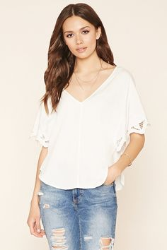 Contemporary Embroidered Top | Forever 21 - 2000151999