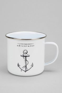 The Adventurer Enamel Mug. I don't think a mug has ever been more perfect for me.