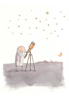 Galileo Father of the stars. Nursery science by shortadventures, $30.00