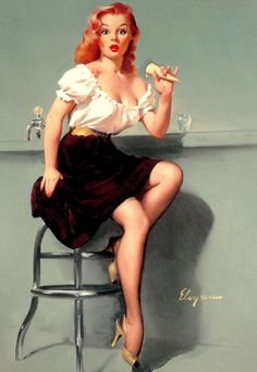 """""""Cold Feed"""" by Gil Elvgren, 1958"""