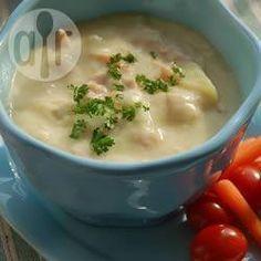 Soupe au jambon et pommes de terre