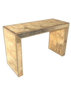 easy diy - build table and gold leaf it