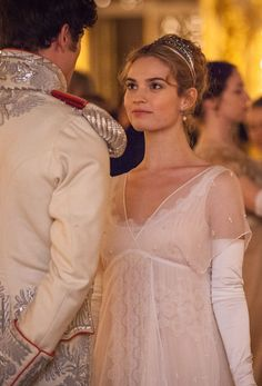 The Enchanted Garden - James Norton as Prince Andrei Bolkonsky and Lily. Lily James, James Norton, Downton Abbey, British Actresses, Actors & Actresses, Romantic Outfit, Costume Shop, Movie Costumes, Belly Dancers
