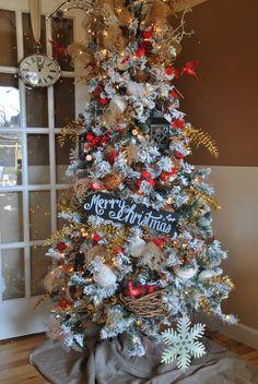 Cardinal Christmas Tree