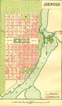 #Joensuu. Original town plan.