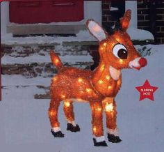"""Rudolph the Red-Nosed Reindeer 24"""" Lighted Sculpture with Blinking Nose Product Works,http://www.amazon.com/dp/B00AH60RRS/ref=cm_sw_r_pi_dp_GclQsb0QFMPR9322"""