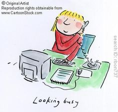 Looking busy. by Brooks, Rosie