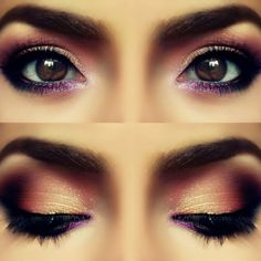This rosy purple smokey eye is super flattering on dark brown eyes. This look is perfect for formal events.
