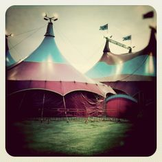 Pink and turquoise circus tents